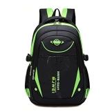 Studenten Oxford campus Schulrucksack für Jungen Mädchen Mehrzweck Rucksack Laptoprucksack Daypack für bis15 Zoll Laptop in verschiedenen Farben (Grün) - 1
